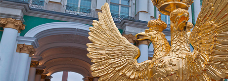 "Re-creation of the ""Double-Headed Eagle"" Decorative Finishing on the Telegraph Tower of the Winter Palace"