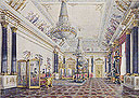 Gift to the Hermitage: A watercolor by Grigory G. Chernetsov entitled The Golden Drawing Room in the Winter Palace